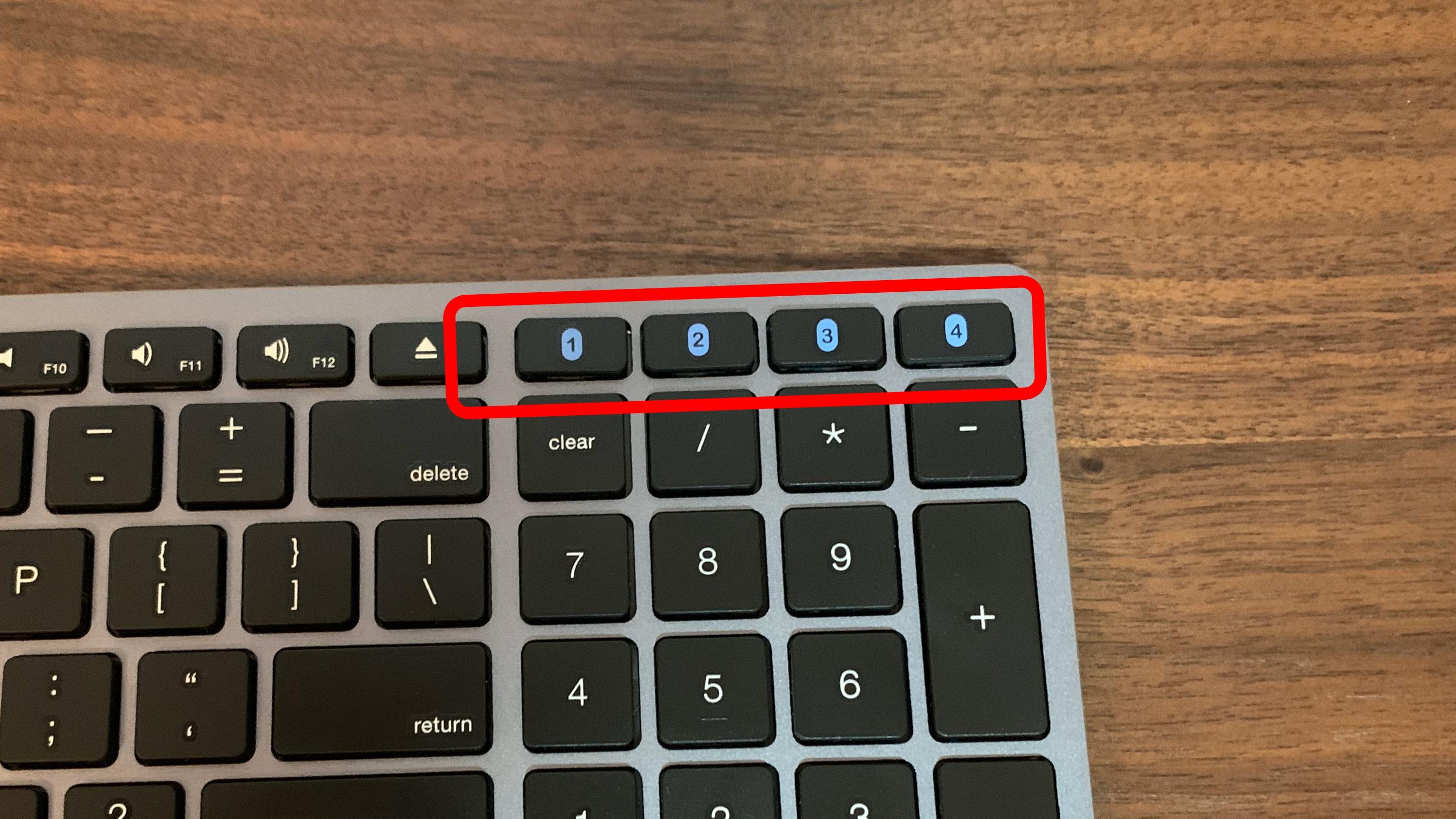 Satechiのキーボードのスイッチボタン